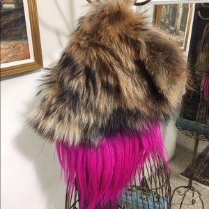 Authentic fox fur clutch/purse/bag